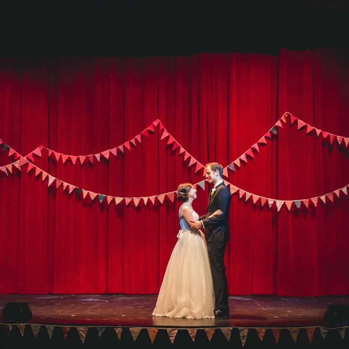 Rachel + Blake | Colorful Theater Wedding
