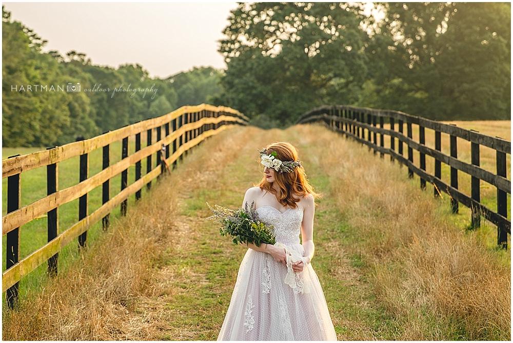 Bride Lavender Flower Crown Raleigh