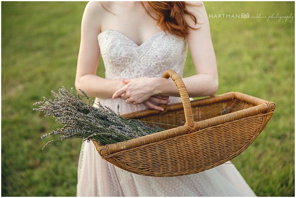 North Carolina Lavender Field Wedding