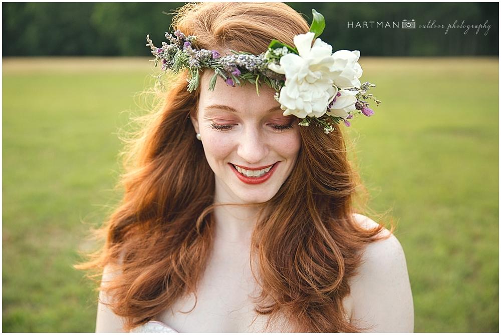 Lavender Flower Crown Bride