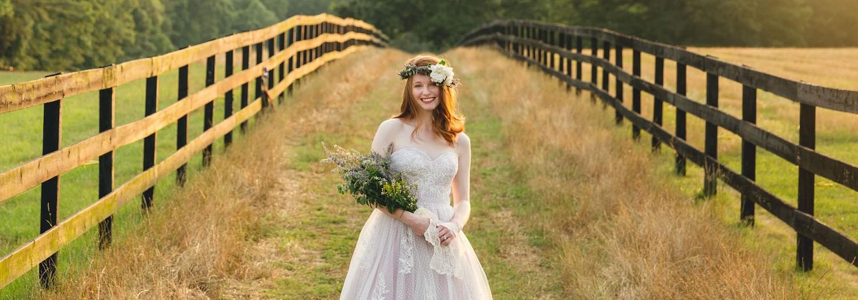 Little Herb House Lavender Themed Bridal Session