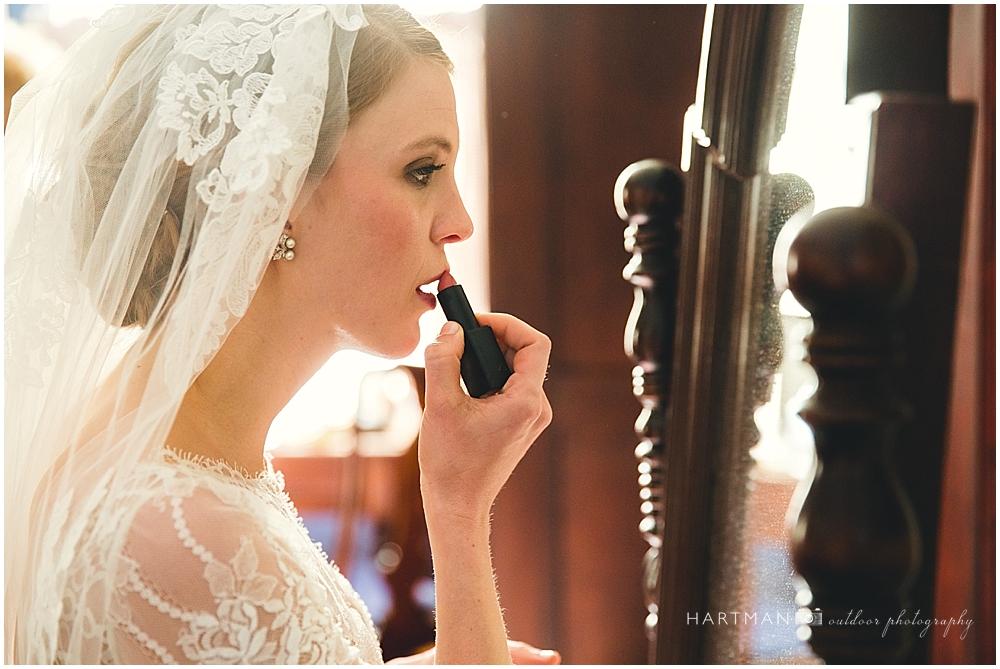 Bride Doing Makeup Magnolia Manor