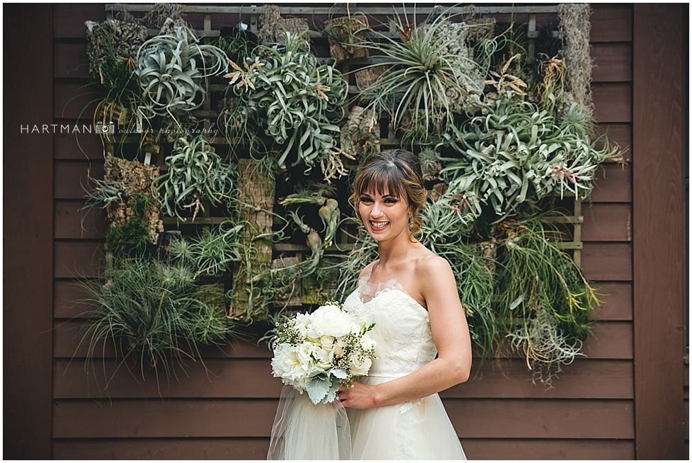 Bridal Session Portraits Succulant wall