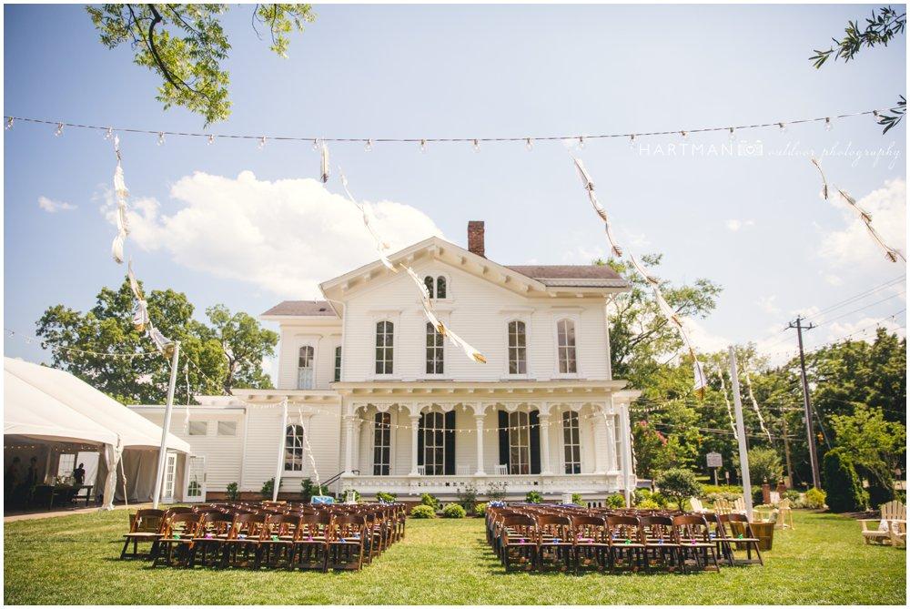 Merrimon Wynne House Bohemian Outdoor Wedding Ceremony