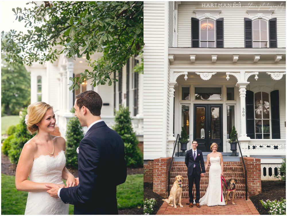 Merrimon Wynne House Couples Session with Dogs