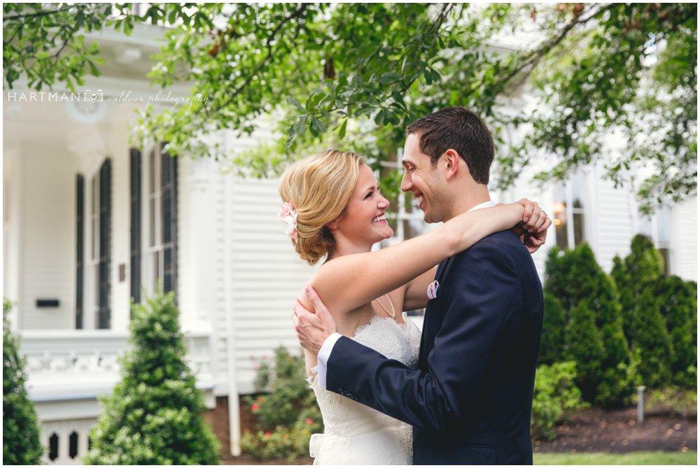 Merrimon Wynne House Wedding First Look