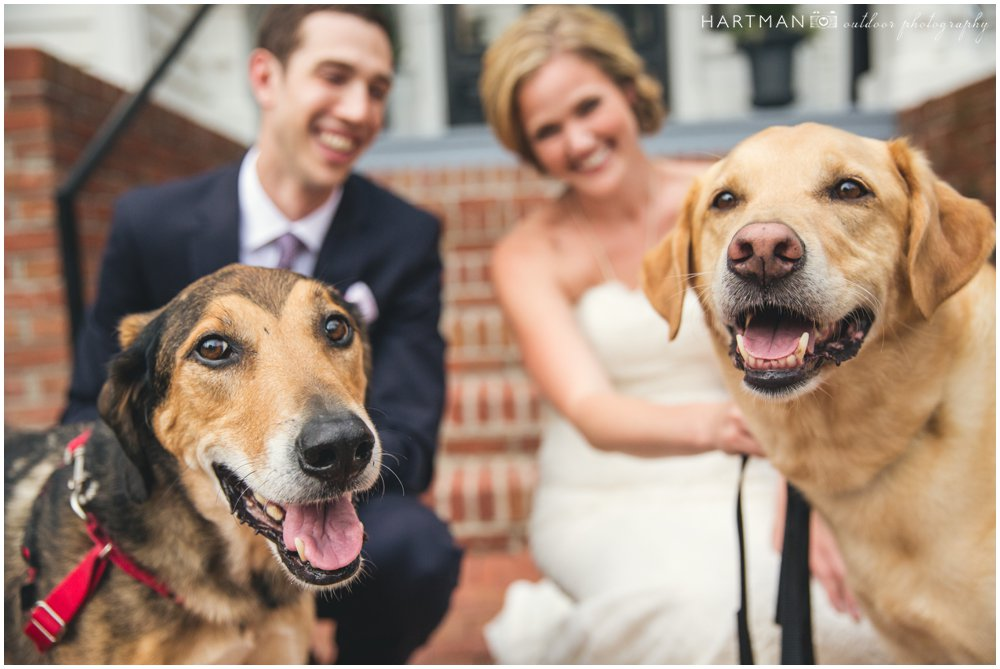 Merrimon Wynne House Wedding with Dogs