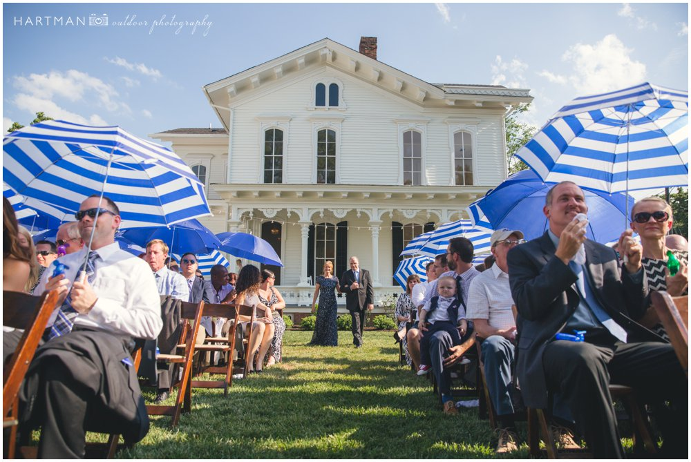 Merrimon Wynne House Summer Outdoor Wedding Ceremony