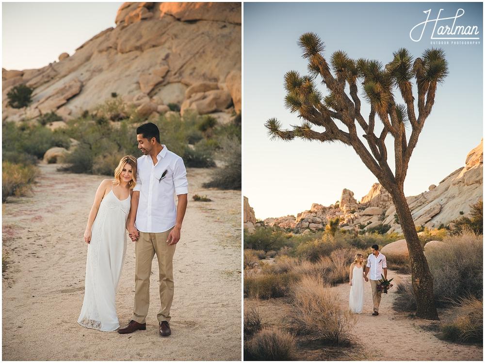 Joshua Tree Bride Groom Wedding Portraits