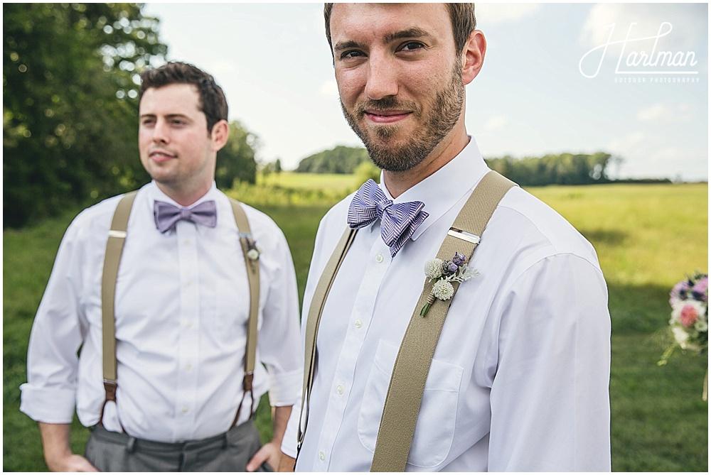 Lavender Bow Tie Groomsmen
