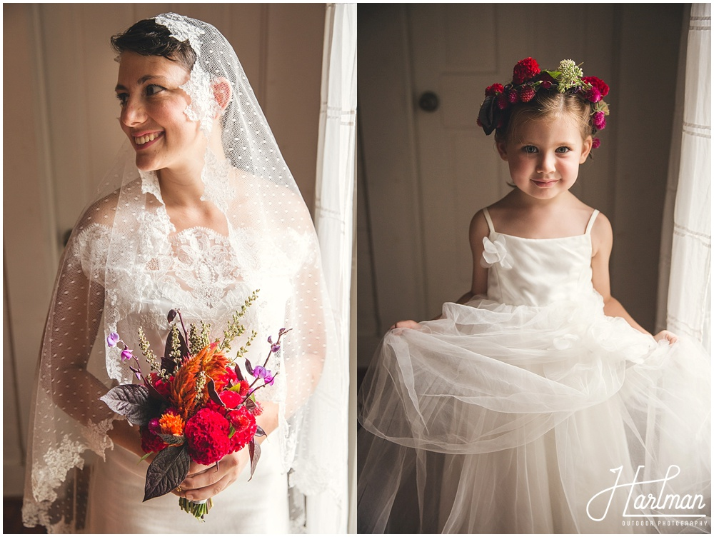 Raleigh North Carolina Flower Crown Bride and Flower Girl