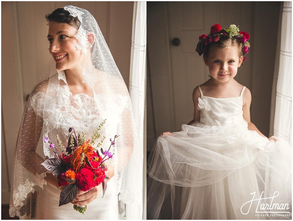 Raleigh North Carolina Flower Crown Bride and Flower Girl