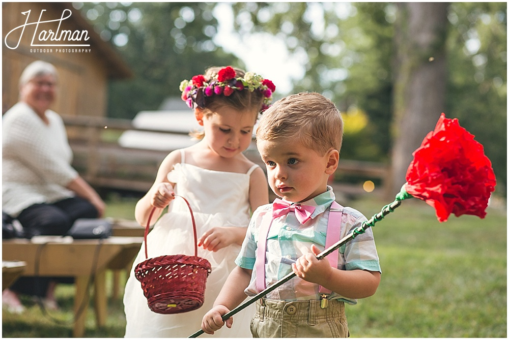Raleigh Bohemian Flowergirl and Ringbearer