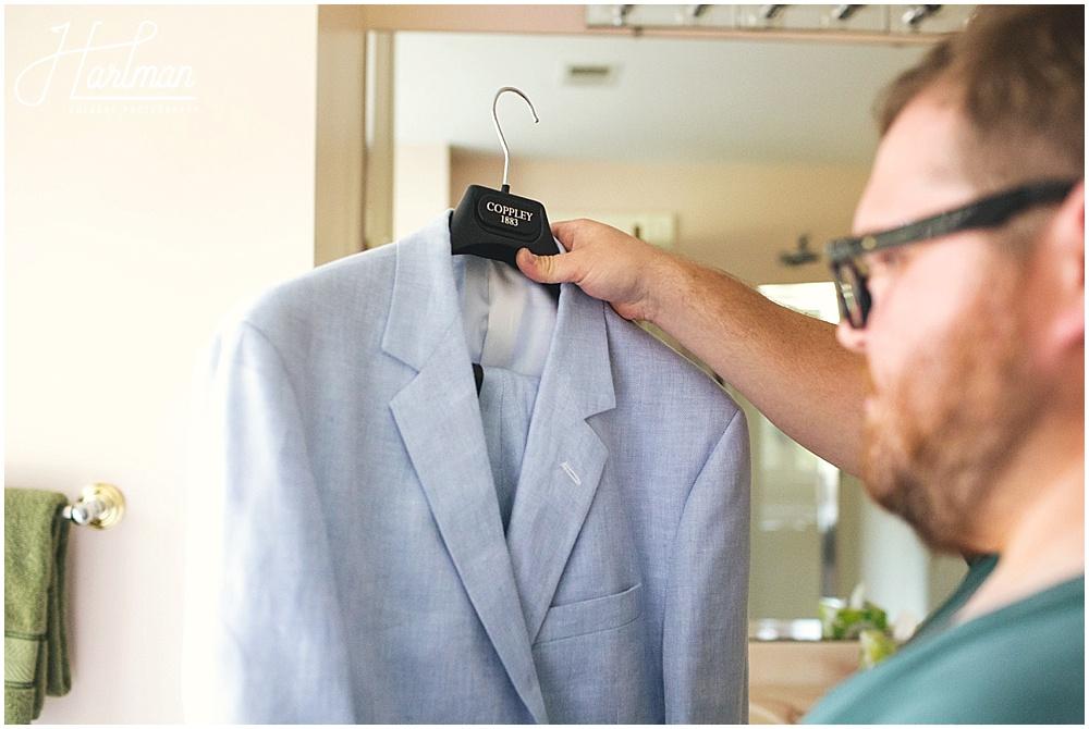 Groom custom suit