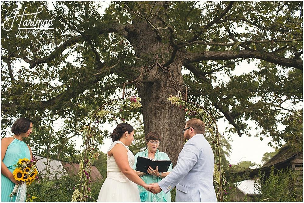 Inn at Celebrity Dairy Ceremony oak Tree