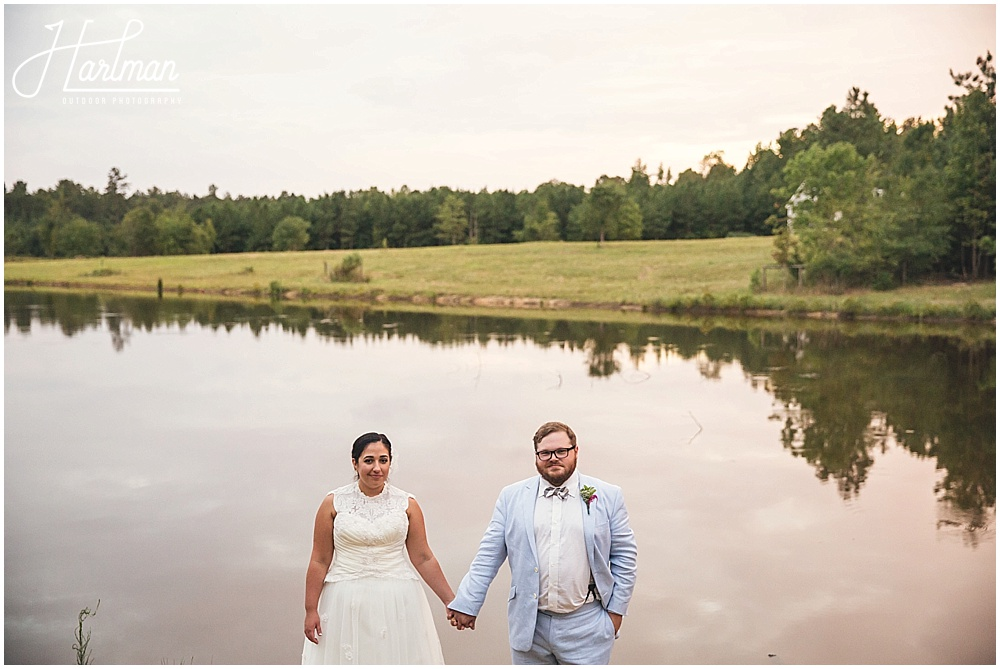 Inn at Celebrity Diary Lake with Bride and Groom