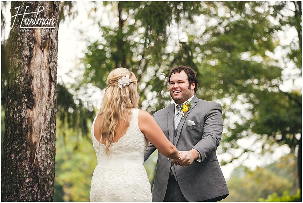 Morton Arboretum Wedding first look