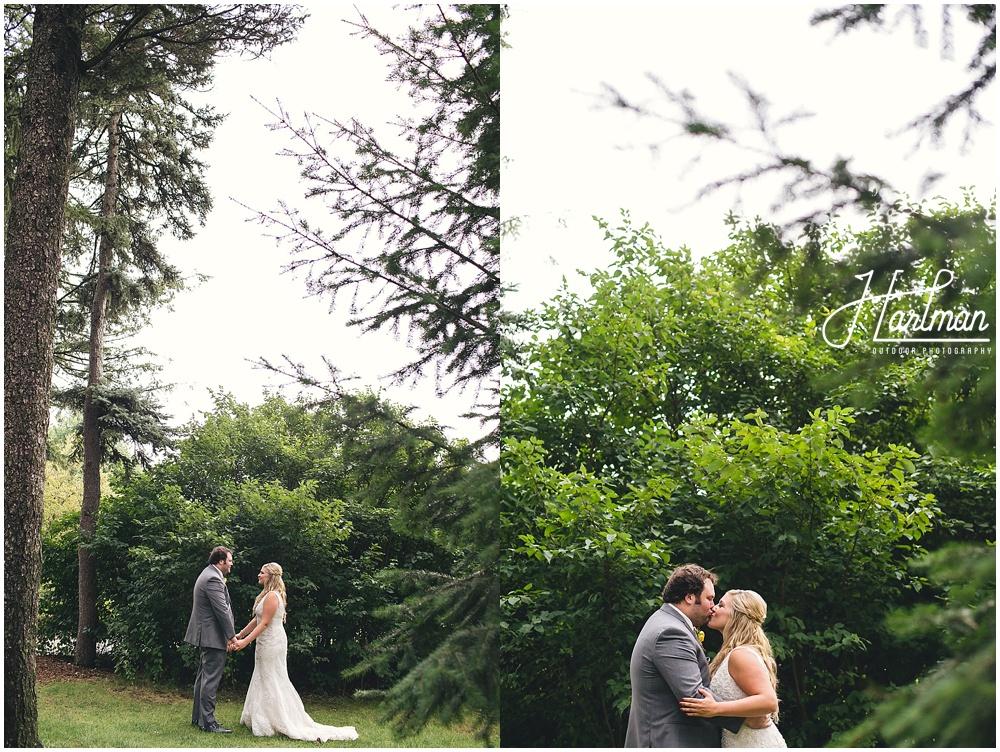 Morton Arboretum Wedding bride and groom pictures