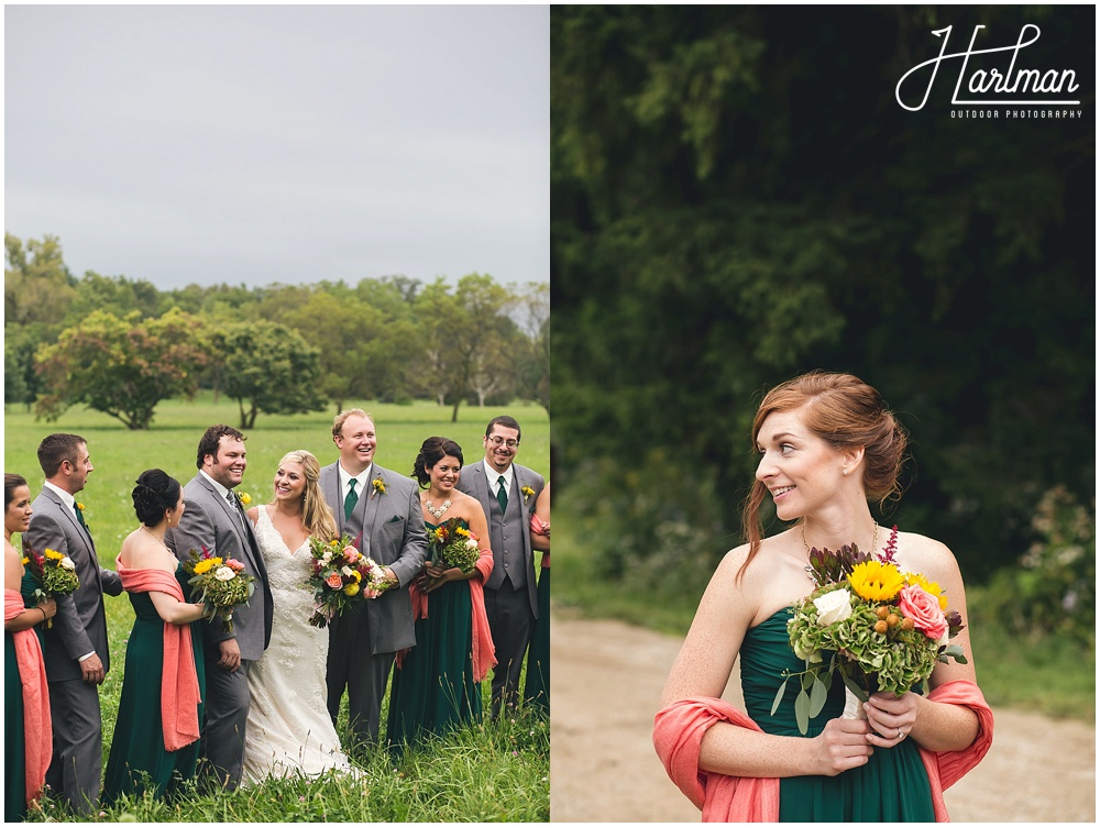 Morton Arboretum Wedding party bridesmaids groomsmen