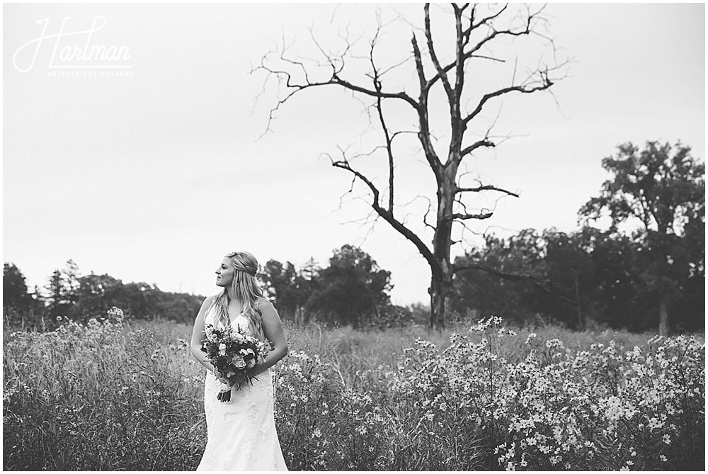 bride bridal portrait Morton Arboretum Wedding 0799