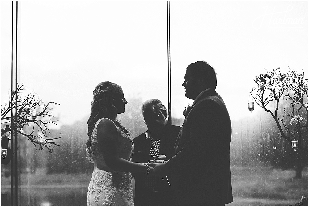 Rainy Ginko Room Morton Arboretum Wedding Ceremony 0827