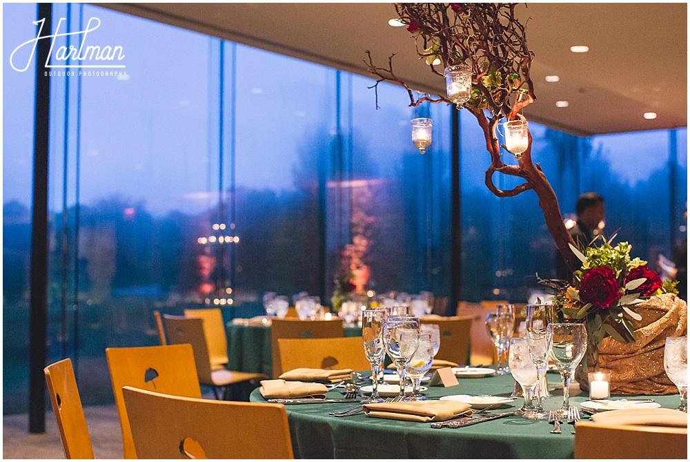 Ginko Room Wedding reception Morton Arboretum
