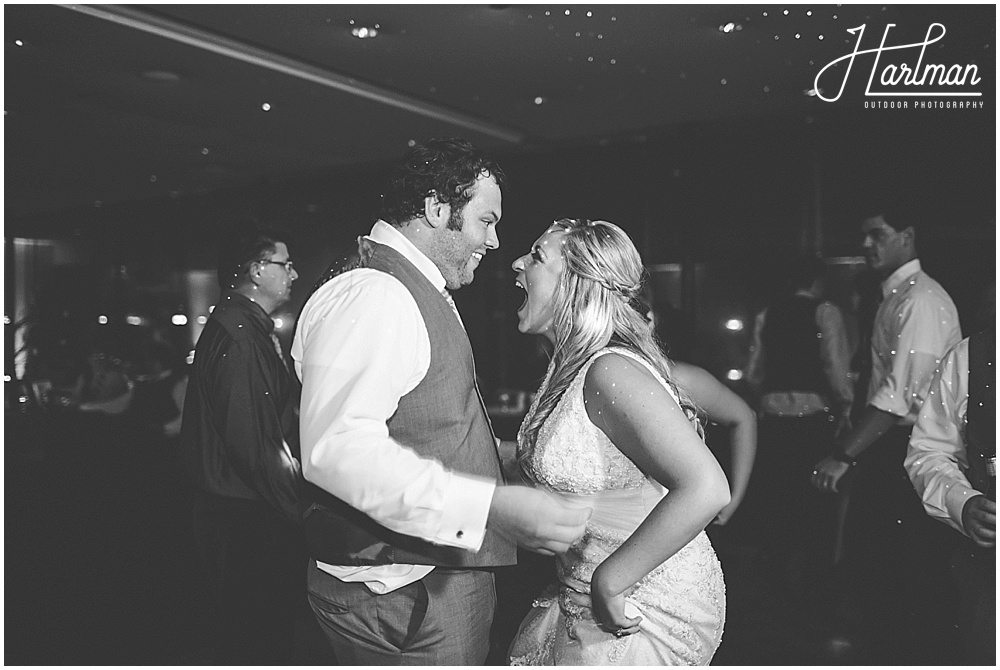 Morton Arboretum Wedding bride and groom dancing