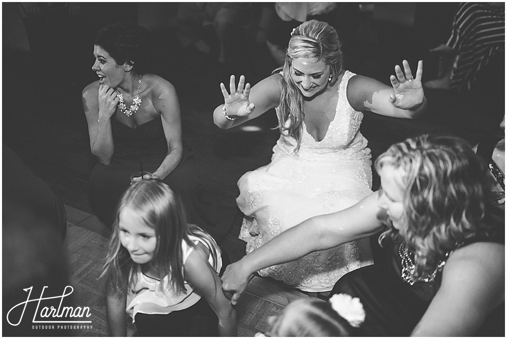 Morton Arboretum Wedding Reception bride dancing