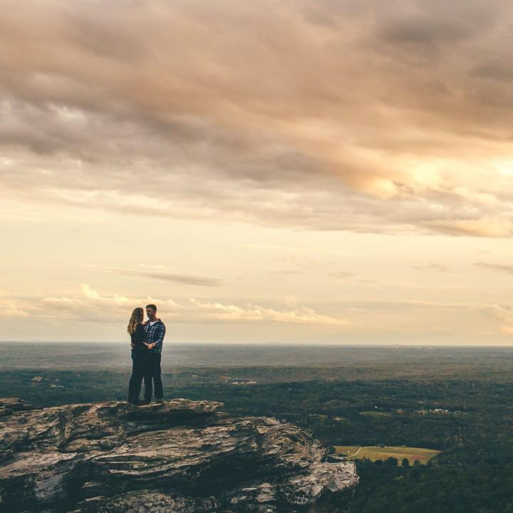 Nicole + Nick | Hanging Rock State Park Engagement