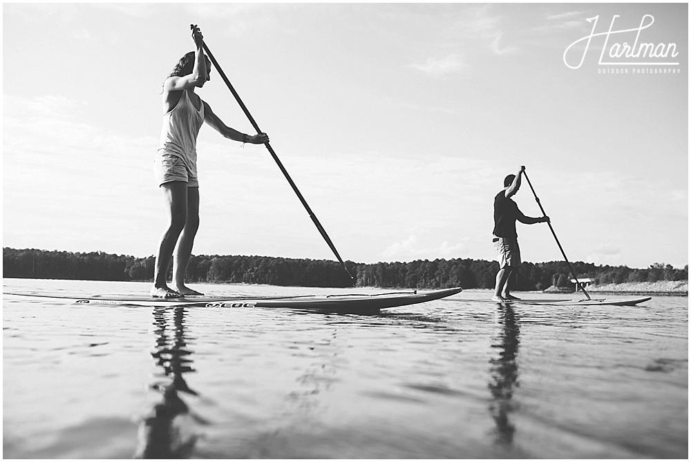 Jordan Lake Paddleboarding Engagement