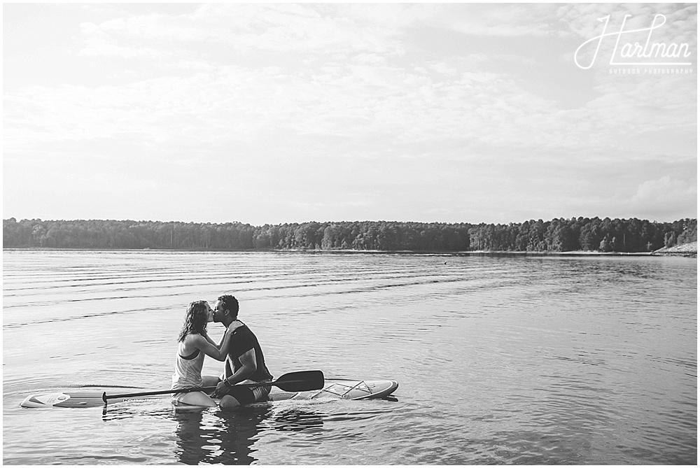 Paddle Board Jordan Lake Engagement