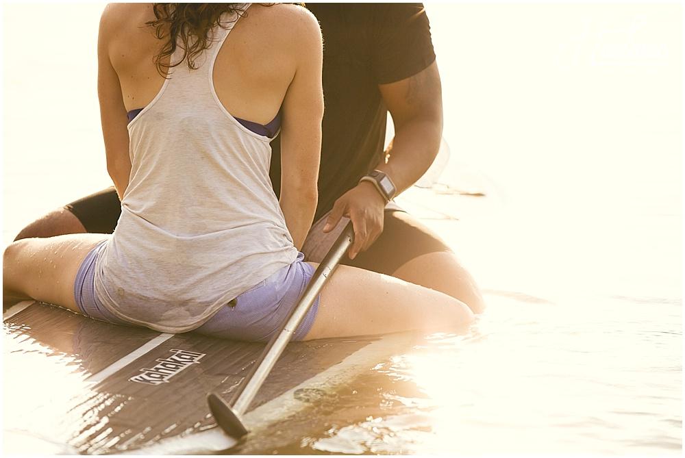 Paddle Board Jordan Lake Engagement Session