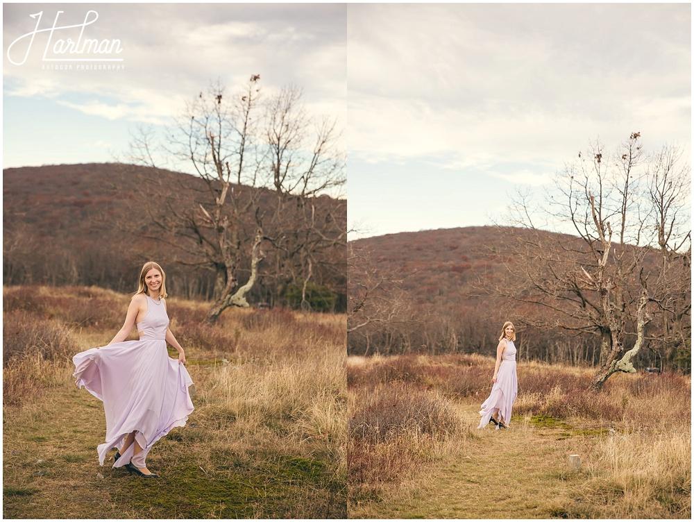 Big Meadows Shenandoah Elopement Bridal Portraits