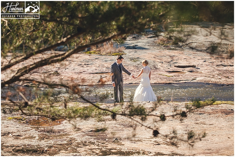 The Mill at Fine Creek First Look Bride Groom
