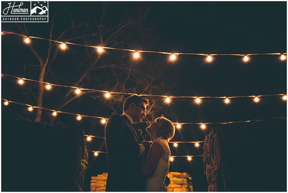 The Mill at Fine Creek Wedding Photos under Market Lights