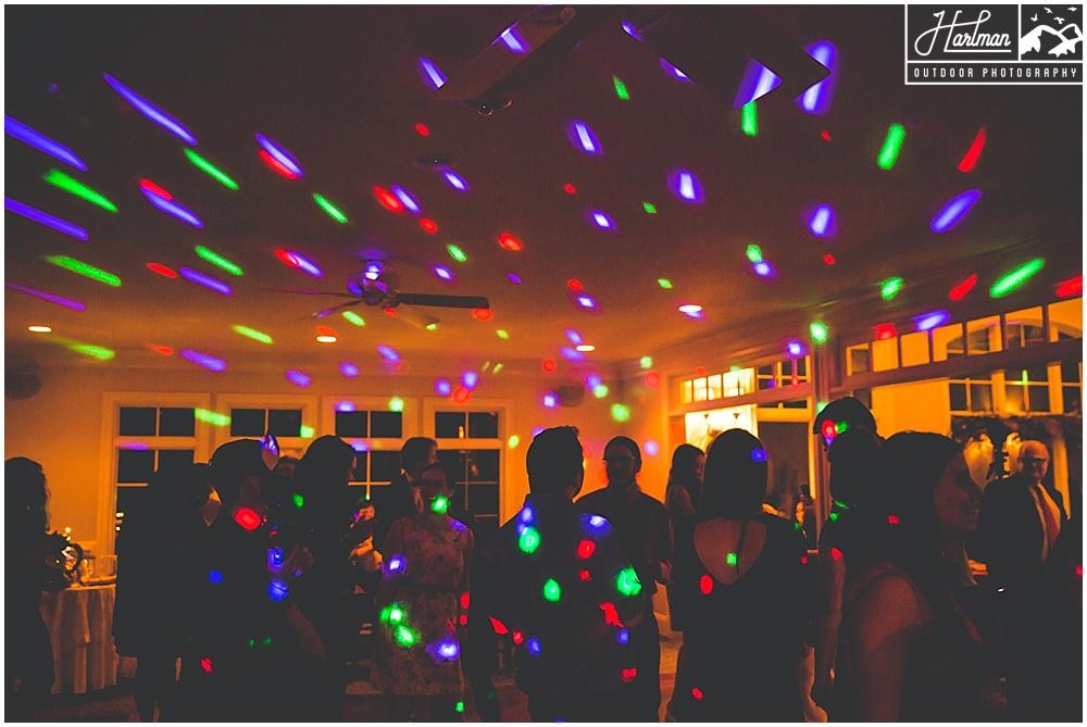 The Mill at Fine Creek Wedding Reception DJ Lights Dancing
