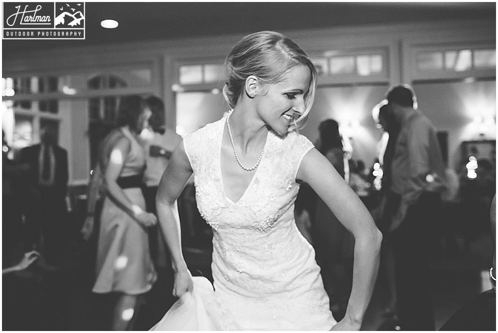 The Mill at Fine Creek Wedding Reception Bride Dancing