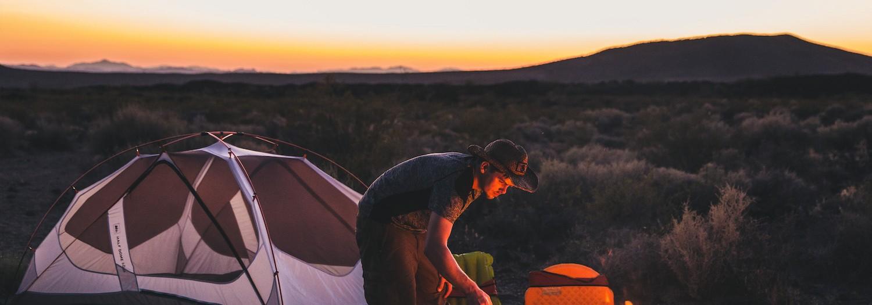 Camping in the Mojave Desert, Nevada