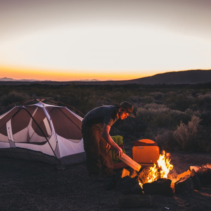 Camping in the Mojave Desert, Nevada
