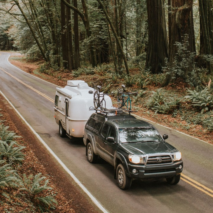 Camping in the Humboldt Redwoods   California