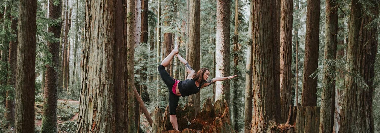 Yoga in Sequoia Park | California