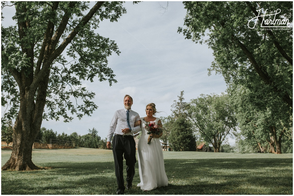 Boone North Carolina Bohemian Outdoor Wedding _0015