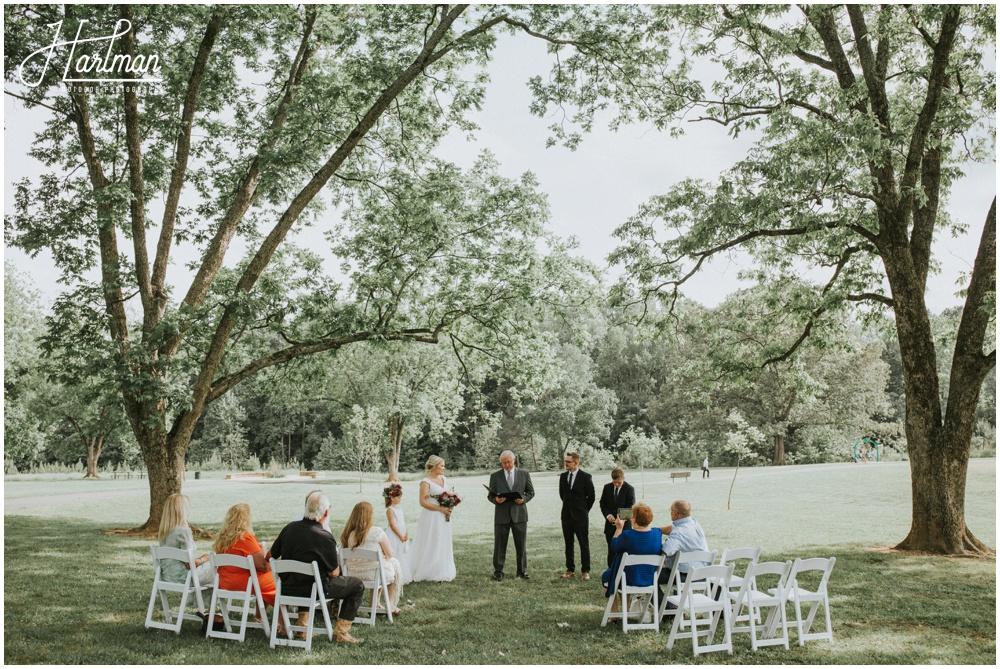 North Carolina Intimate Outdoor Wedding Ceremony _0017