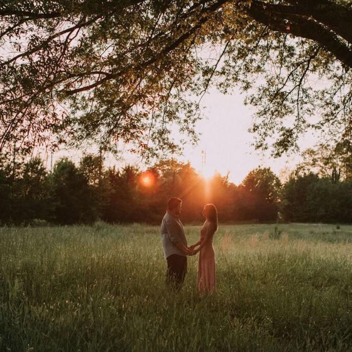 Megan + Fletcher   North Carolina Sunset Engagement