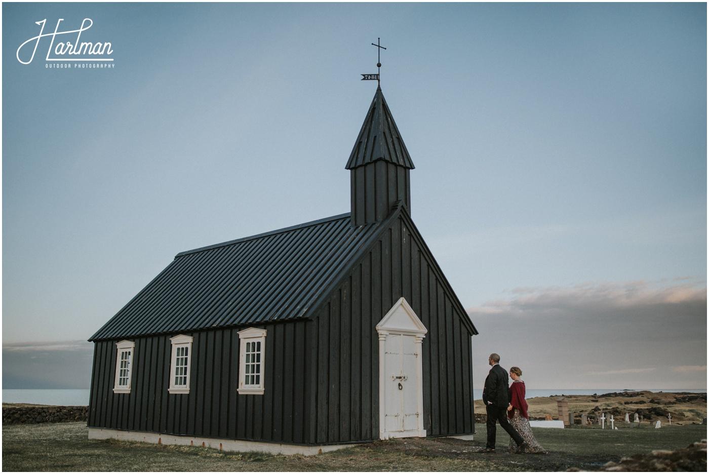 Wedding Little Black Church Iceland _0088