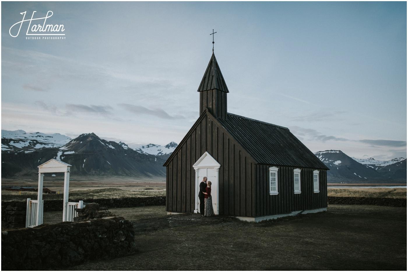 Iceland Black Church Wedding _0090