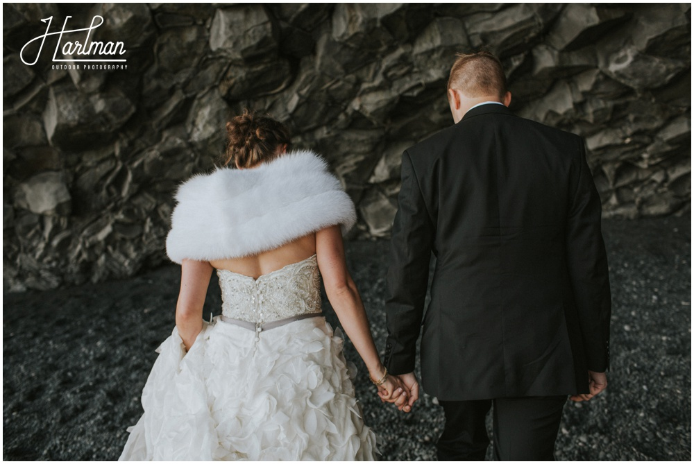 Black Sand Beach Wedding Iceland _0038
