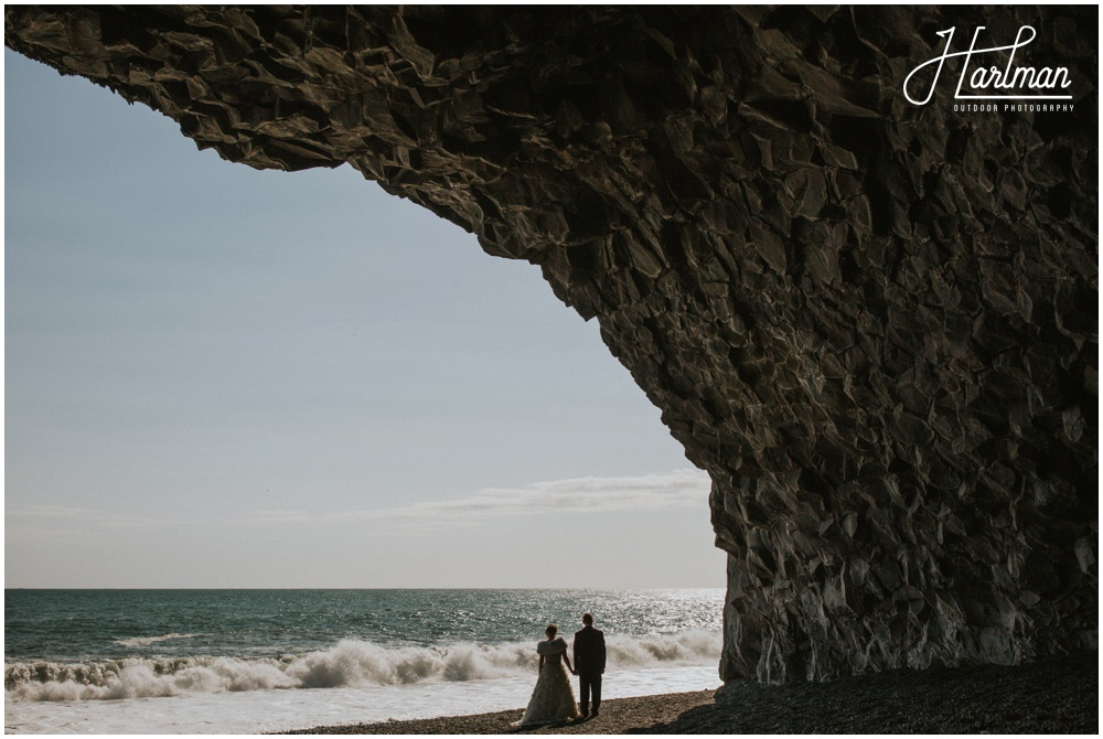 Iceland Black Sand Beach Wedding _0042