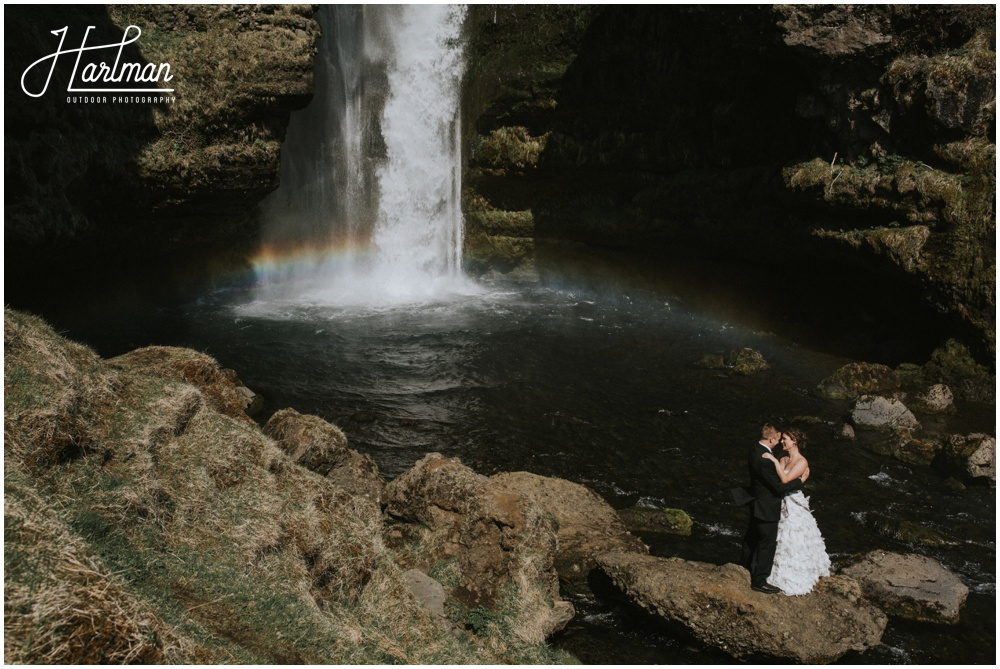 Iceland Wedding Skogafoss waterfall _0024