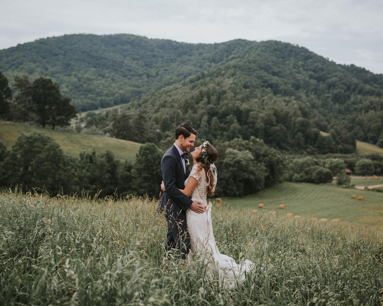 Claxton Farm Rustic scenic wedding venue Asheville